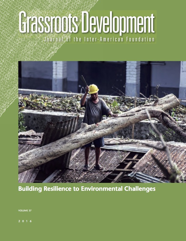 Cover of the Inter-American Foundation 2016 issue of Grassroots Development